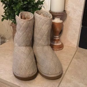 UGG Cream Mountain Quilted Boots